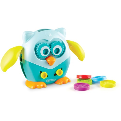 Learning Resources Hoot the Fine Motor Owl - Skill Learning: Fine Motor, Coordination, Color, Shape, Number Recognition - 1.5-4 Year - 6 Pieces