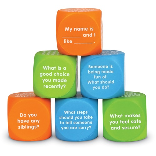 Learning Resources Let's Talk Cubes - Skill Learning: Conversation, Social Skills, Emotion - 5-10 Year - Assorted