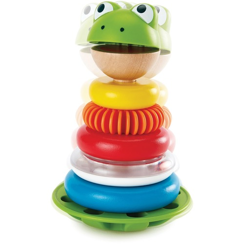 Hape Mr. Frog Stacking Rings - Skill Learning: Color, Counting, Sound, Stacking - 1 Year & Up
