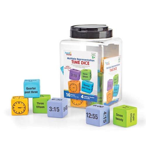 hand2mind Multiple Representation Time Dice - Skill Learning: Time - 5-10 Year - Assorted