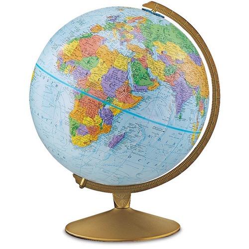 "Replogle Globes 12"" Explorer Globe - 13"" (330.20 mm) Width x 16"" (406.40 mm) Height - Home, Classroom - Durable"