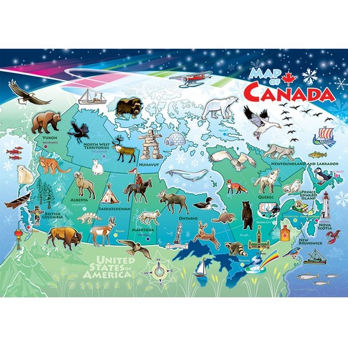 Outset Media Canada Map Tray Puzzle - 3+ Large 35 Piece