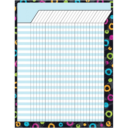 Trend Color Harmony Large Incentive Chart - Skill Learning: Visual Tracking, Goal - 1 Each