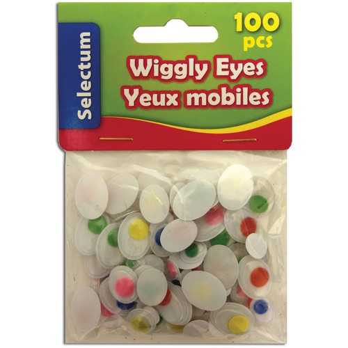 Selectum Wiggly Eye - Project - 100 / Pack - Assorted