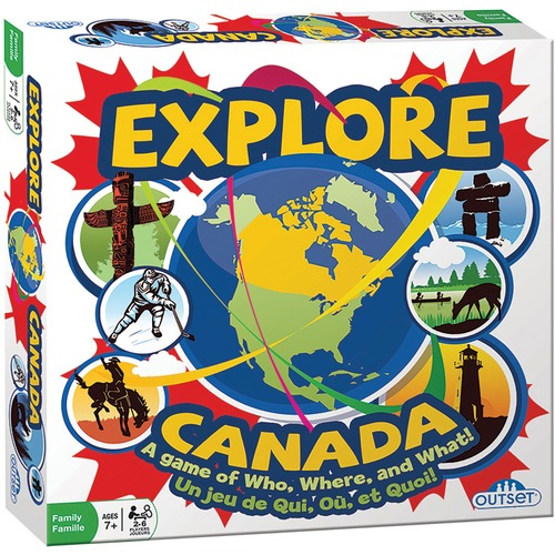 Outset Media Explore Canada Game - 2 to 6 Players Box