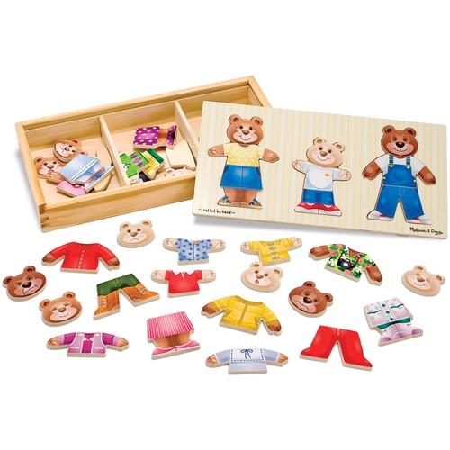 Melissa & Doug Bear Family Dress-Up Puzzle - 45 Piece