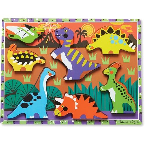 Melissa & Doug Dinosaurs Chunky Puzzle - 7 Piece