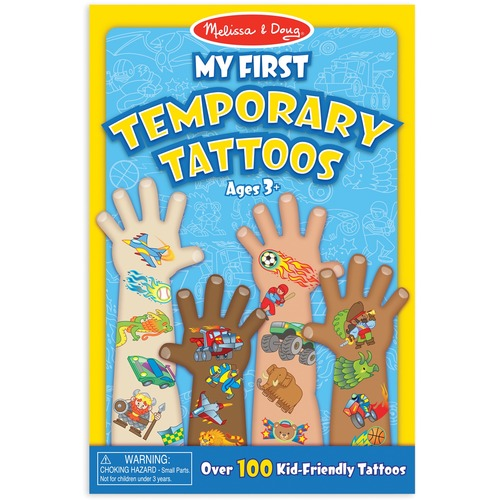 """Melissa & Doug Temporary Tattoo - Adventure, Creature, Sports Theme/Subject - Removable - 9"""" (228.6 mm) Height x 6"""" (152.4 mm) Width x 0.13"""" (3.2 mm) Depth - Blue - 100 / Pack"""