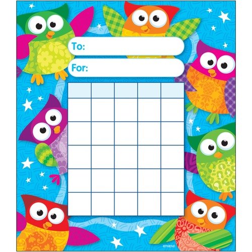 Trend Owl-Stars Incentive Pad - Theme/Subject: Learning - Skill Learning: Goal, Building - 36 / Pad