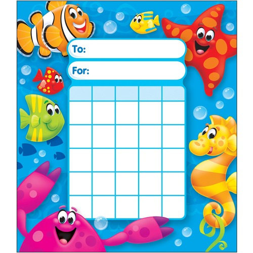 Trend Sea Buddies Incentive Pad - Theme/Subject: Learning - Skill Learning: Building, Goal - 36 / Pad