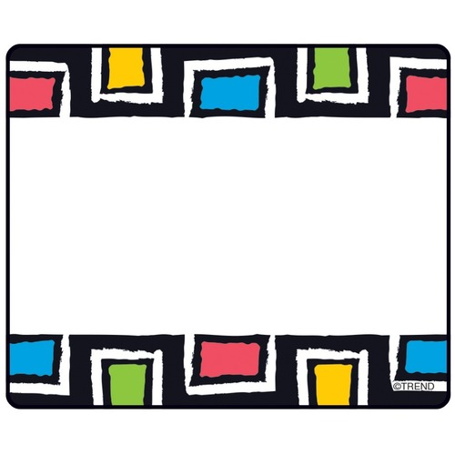 """Trend Bold Strokes Rectangles Terrific Labels - 2 1/2"""" x 3"""" Length - Self-adhesive Adhesive - Rectangle - 36 / Pack"""
