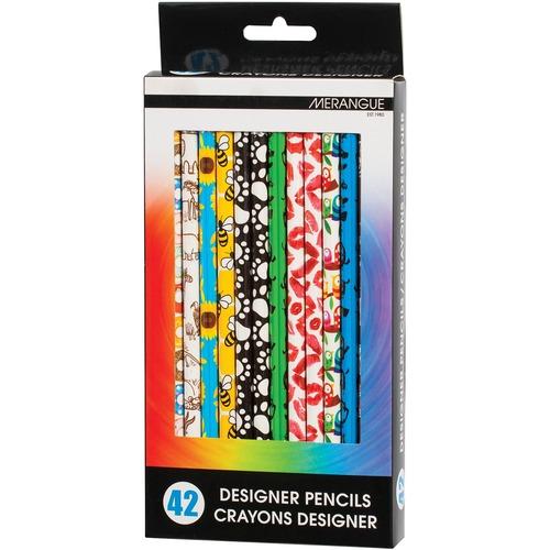 Merangue 42pk Designer Real Wood Pencils - 42 / Pack