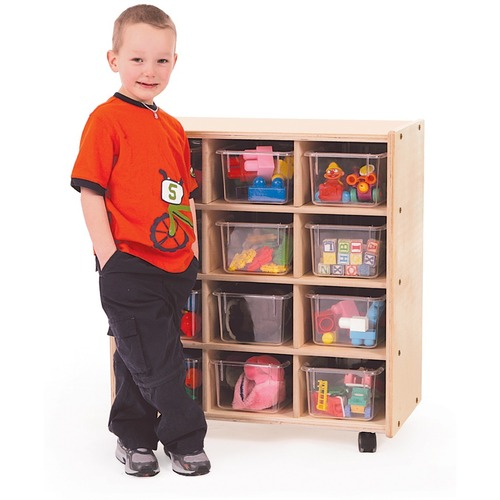 "Trojan 12 Bin Storage - 12 x Bin - 32"" Height x 29"" Width x 15"" Depth - Baltic Birch Plywood, Hardboard, Hardwood"