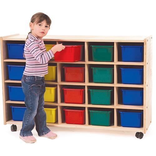 "Trojan 20 Bin Storage - 20 x Bin - 32"" Height x 48"" Width x 15"" Depth - Baltic Birch Plywood, Hardboard, Hardwood"