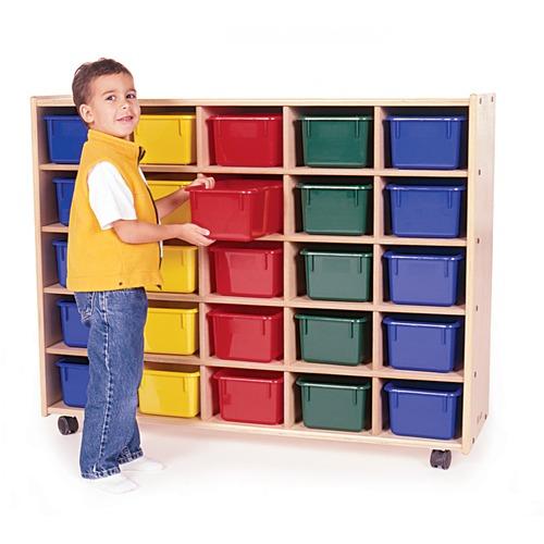 "Trojan 25 Bin Storage - 25 x Bin - 38"" Height x 48"" Width x 15"" Depth - Baltic Birch Plywood, Hardboard, Hardwood"