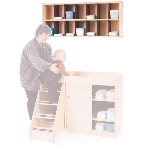 "Trojan Diaper Shelf - 20"" Height x 45"" Width x 10"" Depth - Baltic Birch Plywood, Hardwood - 1 Each"