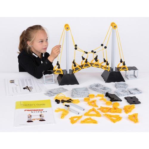 SI Manufacturing Polydron Bridge Set - Skill Learning: Building, Construction, Shape, Science Experiment, Bridge - 134 Pieces