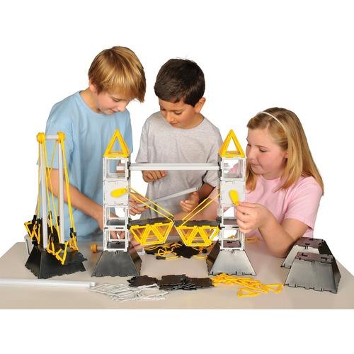 SI Manufacturing Polydron Bridge Set - Skill Learning: Bridge, Construction, Shape - 322 Pieces