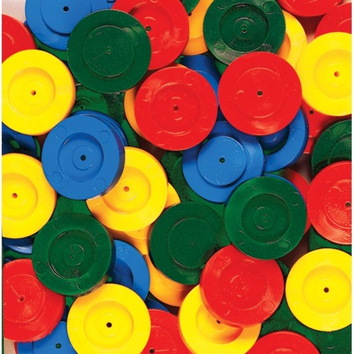 SI Manufacturing Wheels - Skill Learning: STEM, Wheel - Red, Green, Yellow, Blue