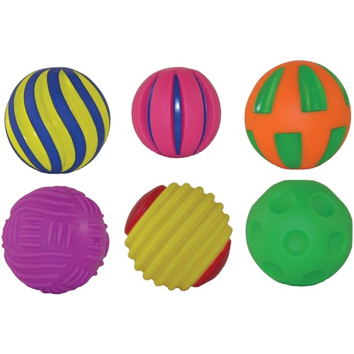 Get Ready Tactile Squeak Balls - Skill Learning: Sensory - 1 Year & Up
