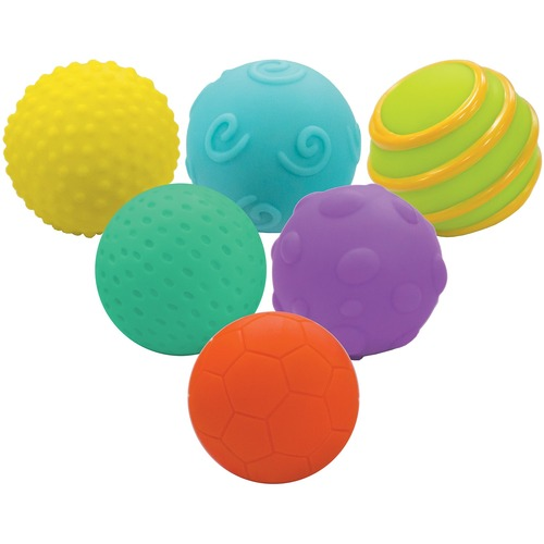 Playwell Textured Ball Set - Skill Learning: Tactile Stimulation, Dexterity, Gross Motor - 6 Month & Up