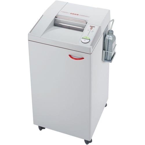 """MBM Destroyit 2604 Office Shredder - Strip Cut - 30 Per Pass - for shredding Staples, CD, Paper Clip - 0.2"""" Shred Size - 5.49 m/min - 10.3"""" Throat - 98.42 L Wastebin Capacity"""