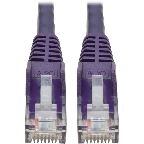 Tripp Lite 20ft Cat6 Gigabit Snagless Molded Patch Cable RJ45 M/M Purple 20'