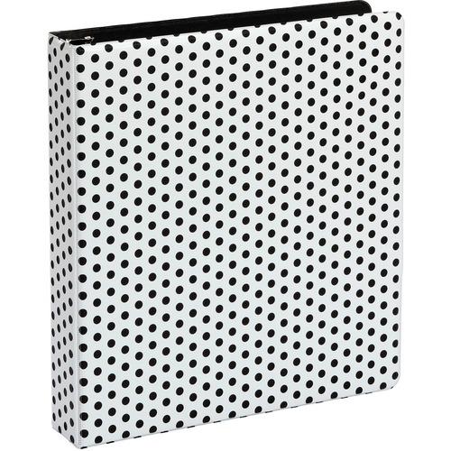 """Oxford Punch Pop Binders, 1.5"""" Back-mounted Round Ring Binder, Black - 1 1/2"""" Binder Capacity - Letter - 8 1/2"""" x 11"""" Sheet Size - 350 Sheet Capacity - 3 x Round Ring Fastener(s) - 2 Internal Pocket(s) - Polypropylene - Black - PVC-free, Non-stick, Durabl"""