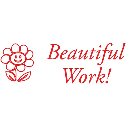 """Printy Self-inking Stamp - Message Stamp - """"BEAUTIFUL WORK"""" - Recycled"""