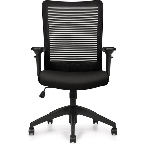Offices To Go Archer II   Mesh High Back & Upholstered Seat Synchro-Tilter - Mesh Back - High Back - Dance - Fabric - Yes - 1 Each