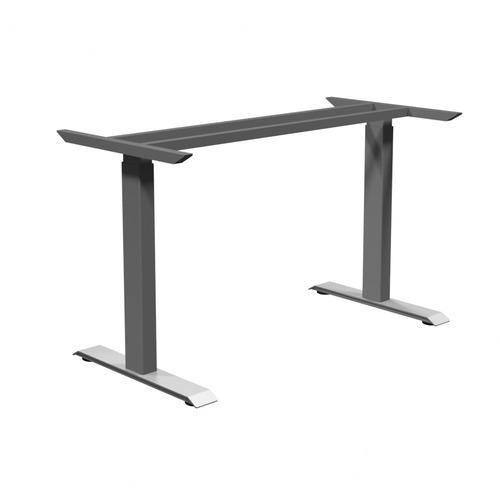 "HDL Athena ATH-E1-2LEG Table Base - 45.5"" - Material: Steel Frame, Laminate - Finish: Silver Metal"