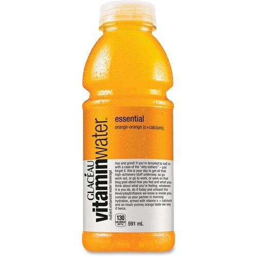 Coca-Cola Flavored Water - Ready-to-Drink - Orange Flavor - 591 mL - 12 / Case / Bottle