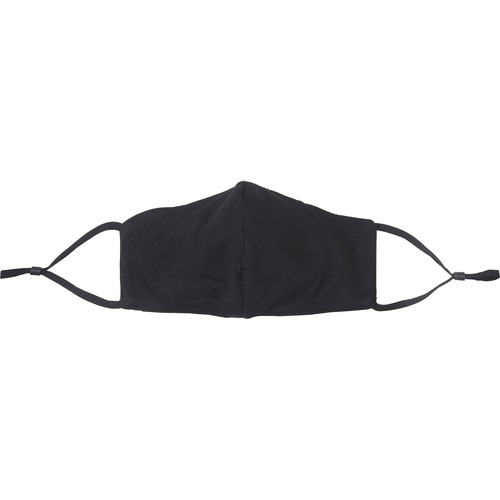 Special Buy Safety Mask - Recommended for: Face - Antimicrobial, 3-layered, Washable, Breathable, Comfortable - Microorganism Protection - Polyester, Cotton - Black - 3 / Bag