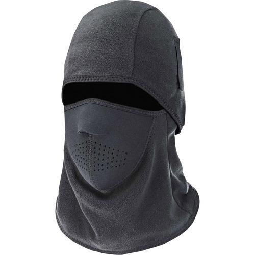 Ergodyne N-Ferno 6827 Balaclava Face Mask - 2-Piece, Fleece/Neoprene - Neoprene, Fleece - Black