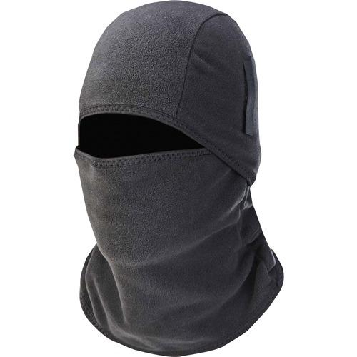 Ergodyne N-Ferno 6826 Balaclava Face Mask - 2-Piece, Fleece - Neoprene, Fleece - Black