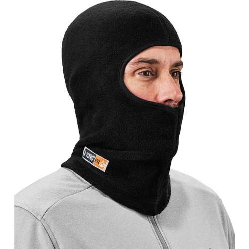 Ergodyne N-Ferno 6828 FR Balaclava Face Mask - Modacrylic Blend, FR Fleece - Fleece - Black
