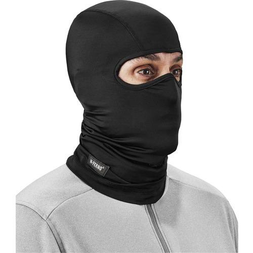 Ergodyne N-Ferno 6832 Balaclava Face Mask - Spandex - Spandex, Polyester - Black
