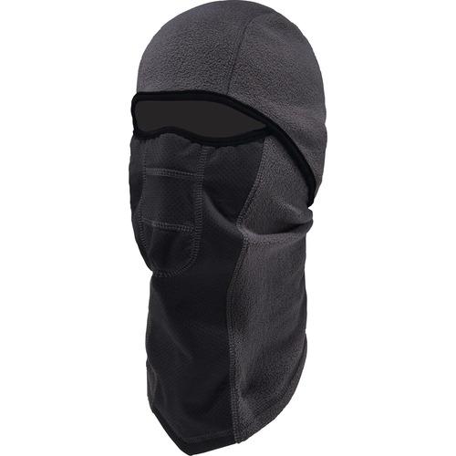 Ergodyne N-Ferno 6823 Balaclava Face Mask - Wind-Proof, Hinged Design - Fabric, Fleece - Gray