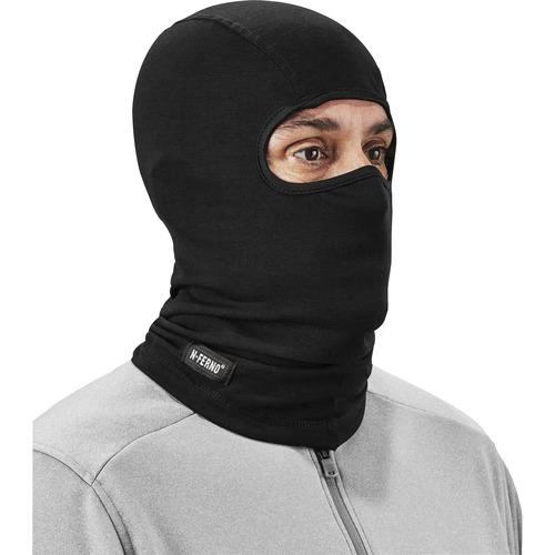 Ergodyne N-Ferno 6824 Balaclava Face Mask - Wool Blend - Fabric, Wool - Black