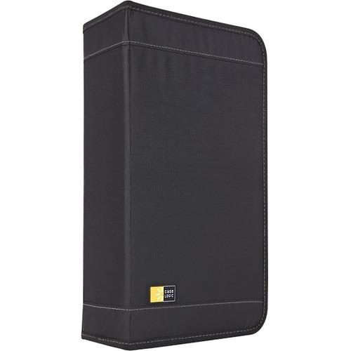 CDW 92 - Wallet for CD/DVD discs - Nylon - 92 discs - Black