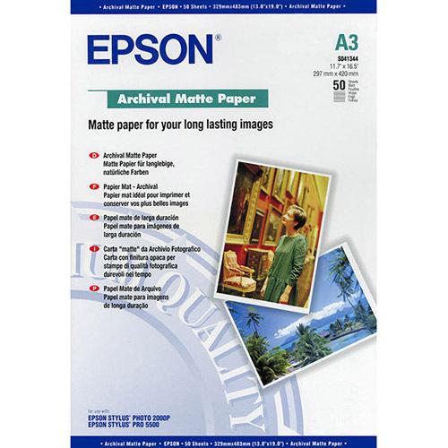Epson C13S041344 Photo Paper - A3 - 297 mm x 420 mm - Matte - 50 x Sheet