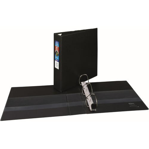 "Avery® 2"" Heavy Duty Binder, One-Touch EZD Ring, Black, 540 Sheets - 2"" Binder Capacity - Letter - 8 1/2"" x 11"" Sheet Size - 540 Sheet Capacity -"