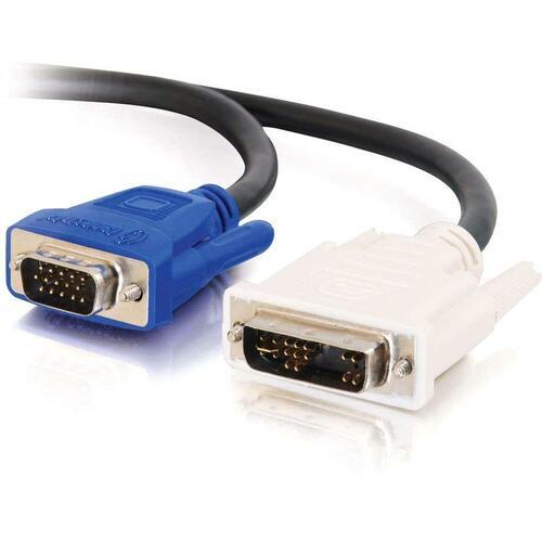 Display cable - 17 pin analog DVI - Male - 15 pin HD D-Sub (HD-15) - Male - 2 M
