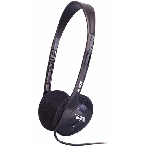 CYBER ACOUSTICS STEREO HEADPHONE SOFT FOAM EAR PADS ADJUST PLSTIC HEADBAND MOQ50