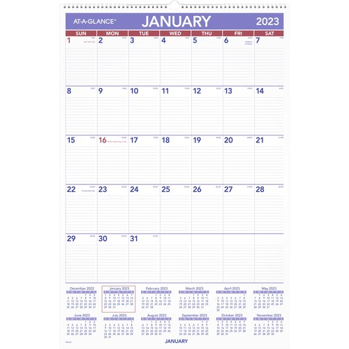 aag pm428 at a glance recycled basic monthly wall calendars aagpm428