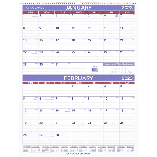 At A Glance Jumbo Erasable Reversible Yearly Wall Planner Yearly