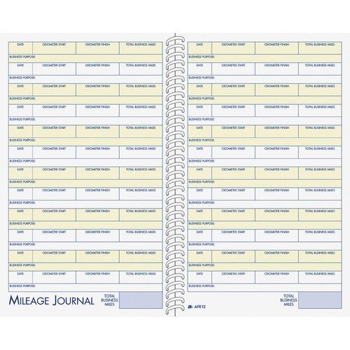 "Adams Vehicle Mileage/Expense Journal Pocket - 64 Sheet(s) - 5 1/2"" x 8 1/2"" Sheet Size - White - White Sheet(s) - 1 Each"