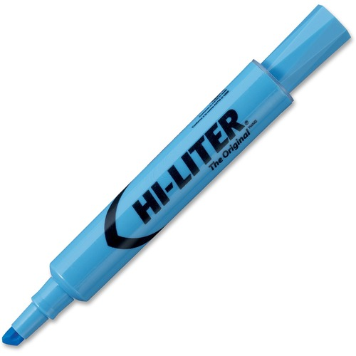 Avery® Desk Style Highlighters - Chisel Marker Point Style - Light Blue - Light Blue Barrel - 12 / Dozen