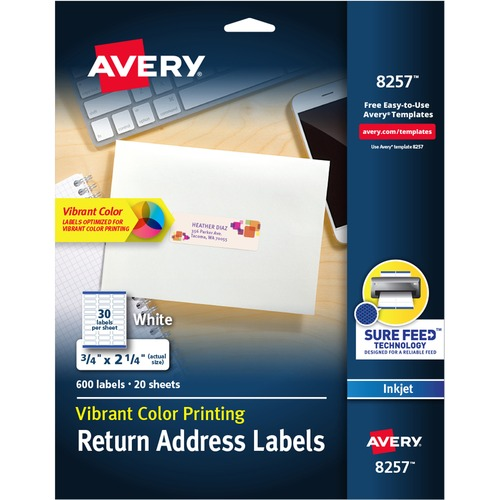 avery matte clear easy peel address labels permanent adhesive 1