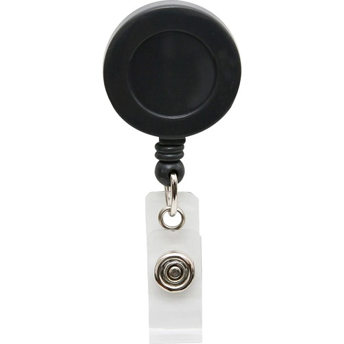 SICURIX Card Reel with Belt Clip - Plastic - 1 Each - Black